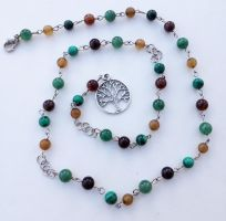 Tree of Life Pagan Rosary/Witch's Ladder by FaerieForgeDesign