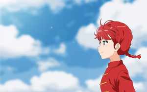 Ranma-chan Clouds [Anime Wallpaper] by geekysoundcat