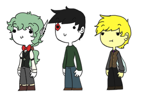 chibi trio owo by Ask-Olive-And-Oliver