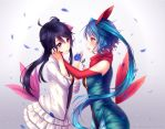 Commission - A blue rose by Hyanna-Natsu