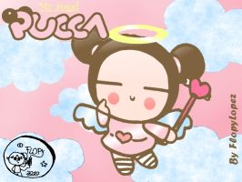 Pucca is an angel :outfit  5: by FlopyLopez