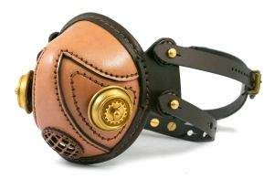 Steampunk leather mask 6 by AmbassadorMann
