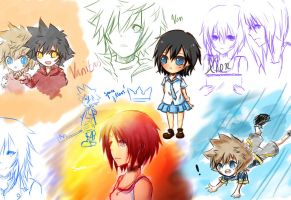 - KH doodles - by Kida-kun