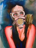 Gasmask girl by mvaguero
