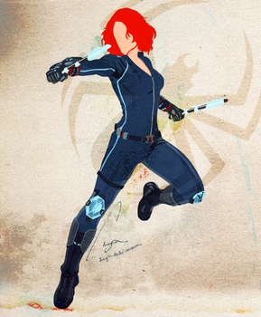 Black Widow, minimalist by xx-Anya
