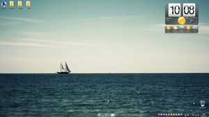 Boat In The Sea desktop by LazyLaza