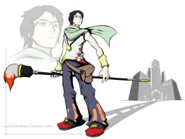 TWEWY Entry - Hero: Shiro by devilp3nguin