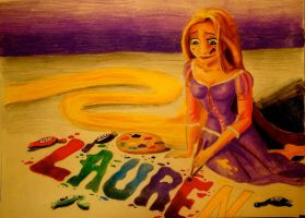 Commission: Rapunzel Painting by x12Rapunzelx