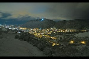 First snow in Brasov City by vxside