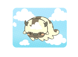 Animated Appa flying by MinjiXMuu-chan