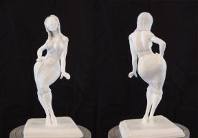 Pinup Girl WIP Unpainted by shalonpalmer