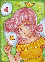 Aceo nr. 41 Sweet Fairy Wanda : For LuckyAngel by Primarella