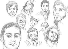 Face sketches 7 by 20handstall