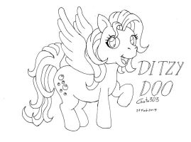 Ditzy Hooves G3 Ink by gato303co