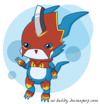 Chibi Flamedramon by Isi-Daddy