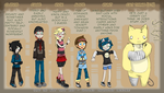 Life Is Not That Bad - Updated Character Designs by Si-Efil