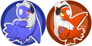 Latios n' Latias Badges by streetdragon95
