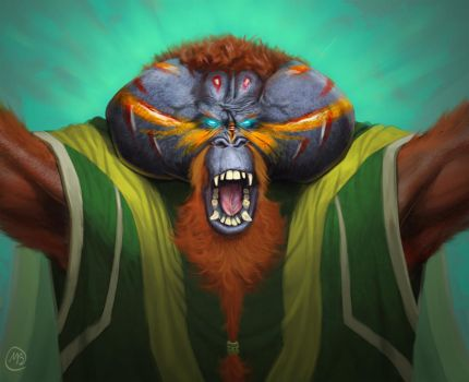 Ape Tribe Shaman by FlammablePerson