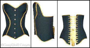Military wedding corset by GrayWolfCorsets