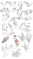 PencilCat's challenge Day 4 - Hella hand reference by SkittyStrawberries