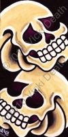 Double Skull Bookmark by Vicki-Death