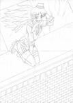Tetra_Sunrise_At_Guild_Rooftop (Scan Sketch) by GODxXx