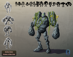 Earth Golem Concept by A-Mind-Adrift