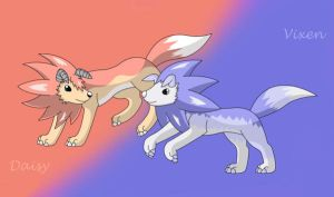Playing Pups by DrentaiWolf