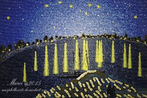 starry night over the Rhone by marphilhearts