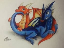 Dragonlings Playing by CrazyDragon2000