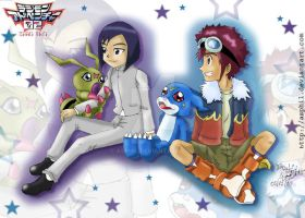 Digimon 02: Daisuke and Ken by Asphil