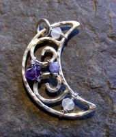 Amethyst, Sapphire, Moonstone by MoonLitCreations