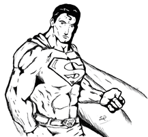 Superman Sketch V2 by StaticRed