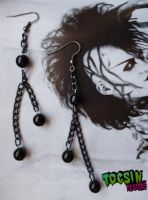 BLACK PEARL EARRINGS by TocsinDesigns
