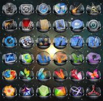 Glass icons by cluper
