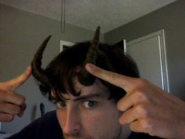 Faun Horns - Costume Progress by RobutMike