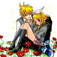 Kagamine Twins by Flxrence