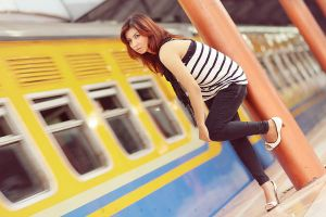 :girl train: by phutugenique
