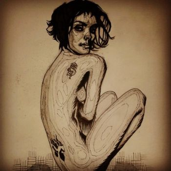 Shannyn Sossamon Topographic Figure Drawing by armstrong2112