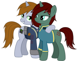 Littlepip and Snipey by JennieOo