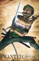 WANTED: RORONOA ZORO by Doomsplosion