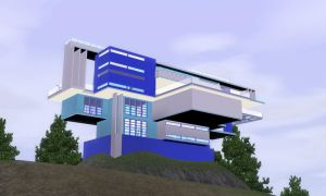 Sims 3 Futuristic tower of Bridgeport by RamboRocky