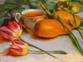 Irises Tulips Mangoes Tea by thienbao