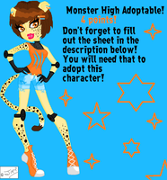 Monster High Adoptable #7 by DesuPanda98