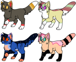 mmm some adoptables ALL TAKEN by FKandFriends