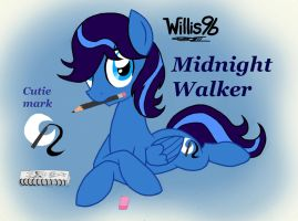 Willis96's Ponysona/OC: Midnight Walker by WillisNinety-Six