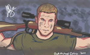Chad Michael Collins Quick Illustration by scarred-journalsJS