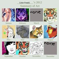 A Look Back On Some Of What I Did In 2012 by color-freak1