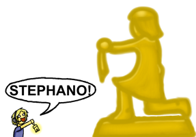 Pewdiepie meets giant Stephano by Detective-May