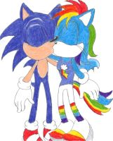 Sonic x Rainbow Dash by BlueSpeedsFan92